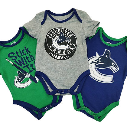 Vancouver Canucks Five on Three Creeper 3 Pack