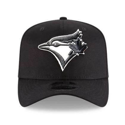 Men's Toronto Blue Jays New Era Black White Stretch 9FIFTY Snapback Adjustable