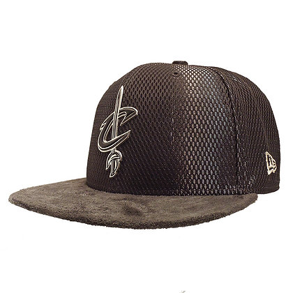 Men's Cleveland Cavaliers New Era ONC Silver on Grey Suede 59FIFTY Fitted Hat
