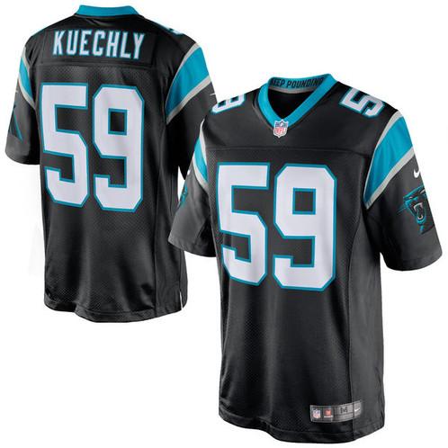 separation shoes adacb 5c623 Men's Carolina Panthers Luke Kuechly Nike Black Limited Jersey