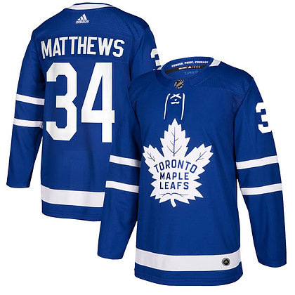 Men's Toronto Maple Leafs Auston Matthews adidas Blue Authentic Player