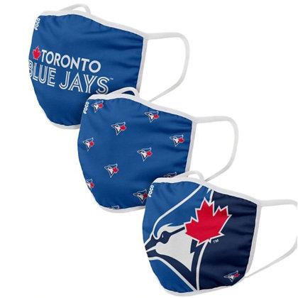 Toronto Blue Jays 3 PACK FACE MASKS (Adult)