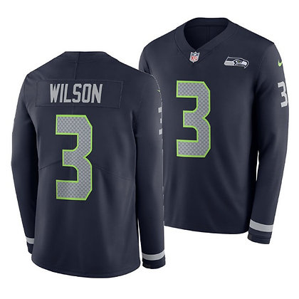 Men's Seattle Seahawks Russell Wilson Nike Long-Sleeve Thermal Jersey
