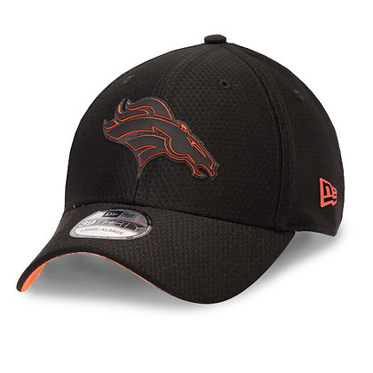 Men's Denver Broncos New Era Black 2018 Training Camp 39THIRTY Flex hat