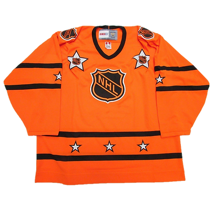 Men's all-star NHL Vintage CCM Orange Jerseys