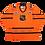 Thumbnail: Men's all-star NHL Vintage CCM Orange Jerseys