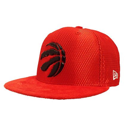 Men's Toronto Raptors New Era ONC Black on Red Suede 59FIFTY Fitted Hat