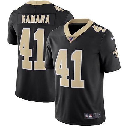 Men's New Orleans Saints Alvin Kamara Nike Black Vapor Untouchable Limited Jerse