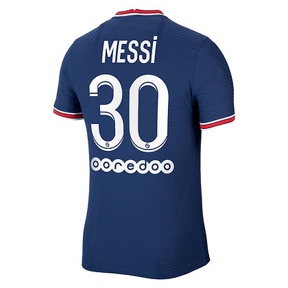 Men's Paris Saint Germain L. Messi Nike Stadium Home Jersey 2021/22