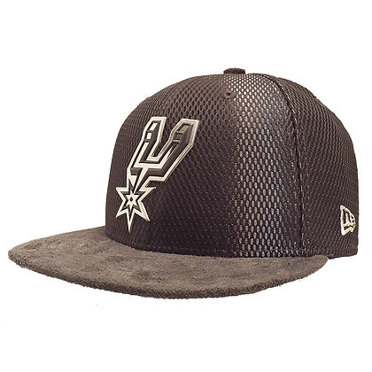 Men's San Antonio Spurs New Era ONC Silver on Grey Suede 59FIFTY Fitted Hat
