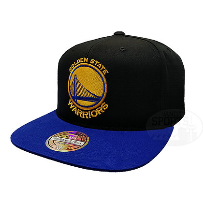 Men's Golden State Warriors Two Tone Mitchell & Ness Black Snapback