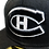 Thumbnail: Montreal Canadiens Custom White on Black 59fifty fitted hat