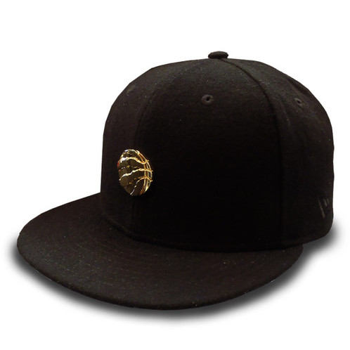 Men's Toronto Raptors New Era Gold Liquid Metal Logo Wool Black 9FIFTY  Snapback