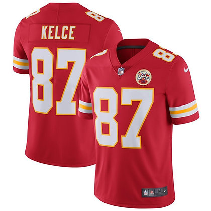 Men's Kansas City Chiefs Travis Kelce Nike Red Vapor Untouchable Limited Player