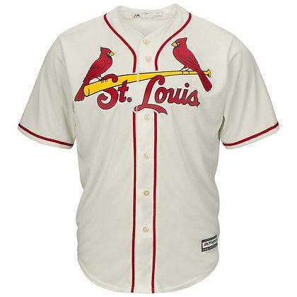 Men's St. Louis Cardinals Majestic Cream Alternate Cool Base Team Jersey