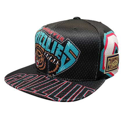 Men's Vancouver Grizzlies Tear Up Black Teal Adjustable Snapback Hat