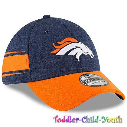 Kids Denver Broncos New Era Navy/Orange 2018 NFL Sideline Home 39THIRTY Flex Hat