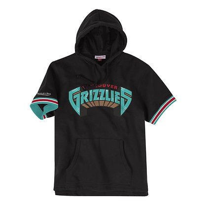 Men's Vancouver Grizzlies Mitchell & Ness French Terry Short Sleeve Hoodie