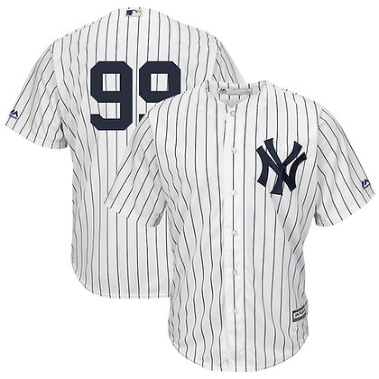 Men's New York Yankees Aaron Judge Majestic White Home Cool Base Jersey