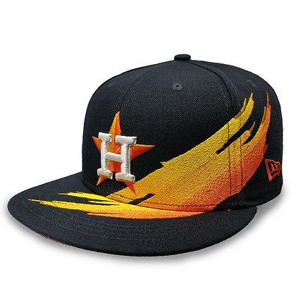 Men's Houston Astros Brush Collection New Era 9FIFTY Dark Navy Snapback Hat