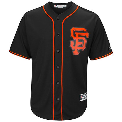 Men's San Francisco Giants Majestic Black Alternate Cool Base Jersey