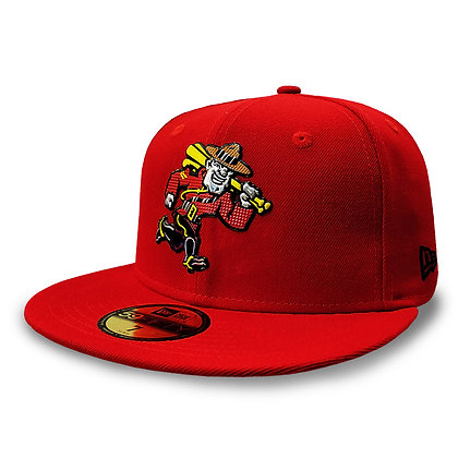 Vancouver Canadians New Era Liquid Metal Mountie Red 59FIFTY Fitted Hat