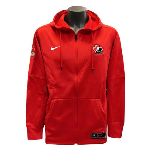 Men's Team Canada 2019 IIHF WJC Nike Red Full-Zip Performance Hoodie