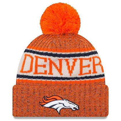Men's Denver Broncos New Era 2018 Sideline Official Sport Knit hat