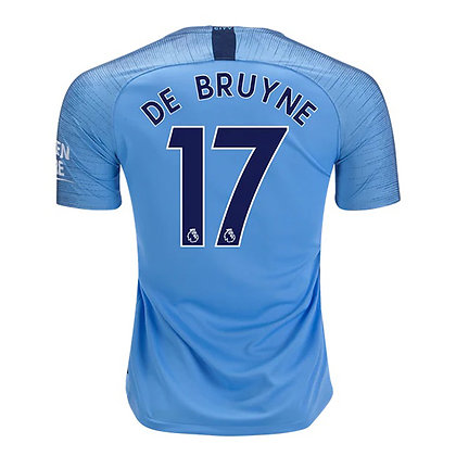 Men's Manchester City Kevin De Bruyne Nike Home / Away Jersey 2018/19
