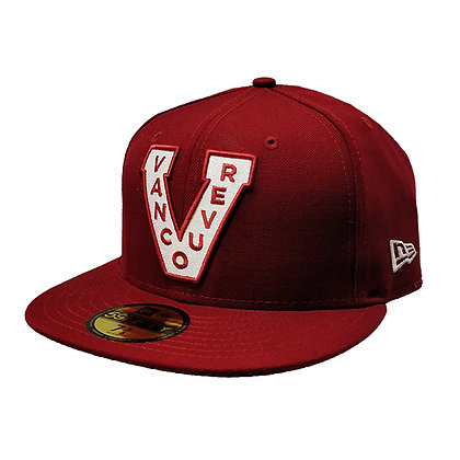 Men's Vancouver Millionaires New Era Trim Logo on Maroon 59FIFTY Fitted hat