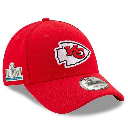 Men's Kansas City Chiefs Super Bowl LIV New Era Scarlet Sidepatch 9FORTY Hat