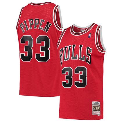 Men's Chicago Bulls  Scottie Pippen Red 97-98  HWC Swingman Jersey