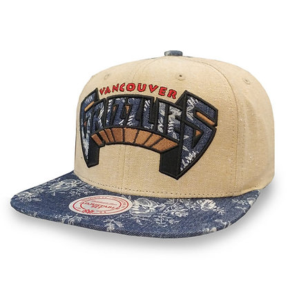 Men's Vancouver Grizzlies Mitchell and Ness Vacation Linen Snapback