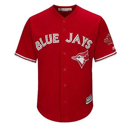 Men's Toronto Blue Jays Majestic Scarlet Alternate Cool Base Jersey