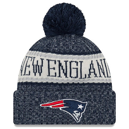 Men's New England Patriots New Era 2018 Sideline Official Sport Knit Hat