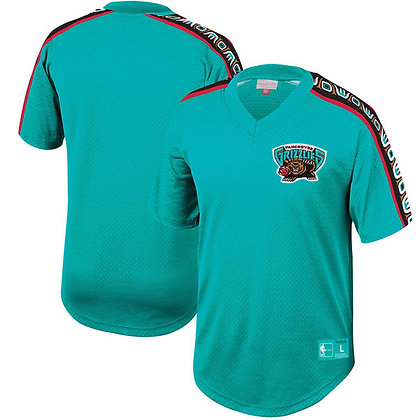 Men's Vancouver Grizzlies Winning Team Mitchell and Ness Mesh V-Neck