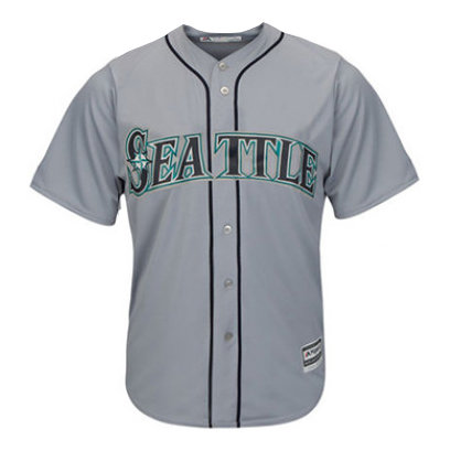 Men's Seattle Mariners Majestic Gray Road Cool Base Jersey