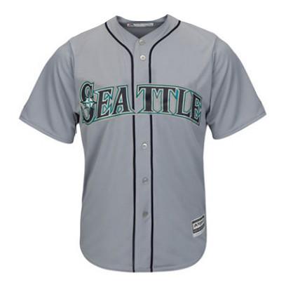 Men's Seattle Mariners Majestic Gray Road Cool Base Jersey