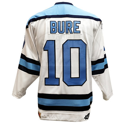 Men's Hockey Night in Canada Pavel Bure White / Blue Jersey by Roger Edwards