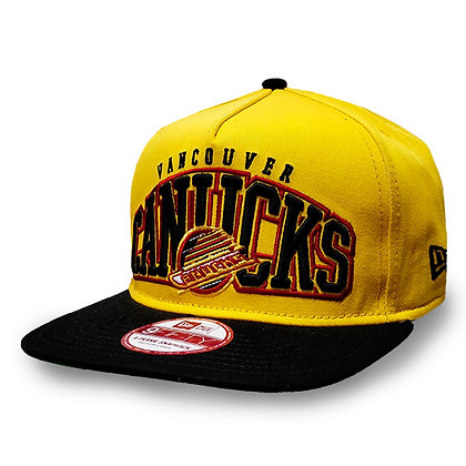 Men's Vancouver Canucks Skate Logo New Era Yellow / Black 9FIFTY Snapback Hat