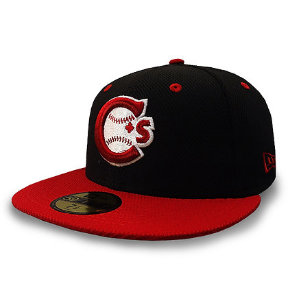 Men's Vancouver Canadians New Era Team Logo Black / Red 59FIFTY Hat