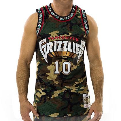 Men's Vancouver Grizzlies Woodland Camo Mitchell & Ness Swingman Jersey