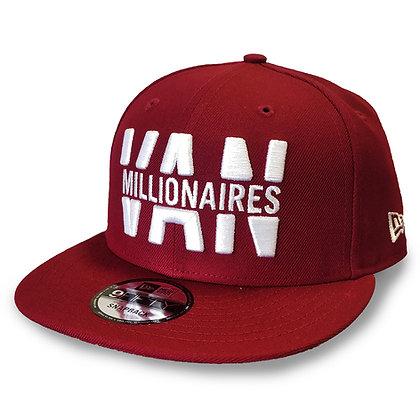 "Men's Vancouver Millionaires ""VAN MLLIONAIRES"" New Era Maroon 9FIFTY Snapback"