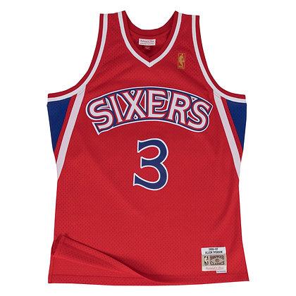 Men's Philadelphia 76ers Allen Iverson Mitchell & Ness Red 96-97 HWC Swingman