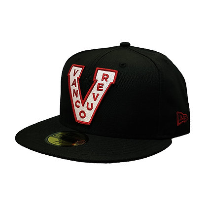 Men's Vancouver Millionaires New Era Trim Logo on Black 59FIFTY Fitted Hat