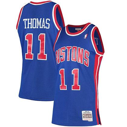 Men's Detroit Pistons Isiah Thomas Blue 88-89  HWC Swingman Jersey