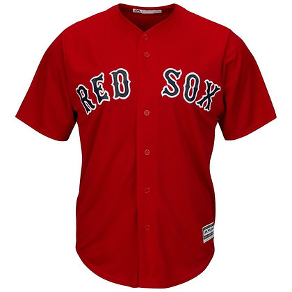 Men's Boston Red Sox Majestic Red Alternate Cool Base Jersey