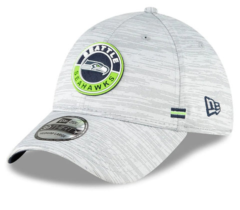 Seattle Seahawks New Era 2020 Official Road Sideline 39THIRTY Stretch Fit