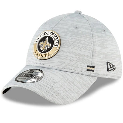 New Orleans Saints New Era 2020 Official Road Sideline 39THIRTY Stretch Fit