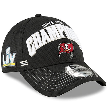 Men's Tampa Bay Buccaneers Super Bowl LV New Era Black Locker Room 9FORTY Hat